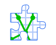 vector racer puzzles icon